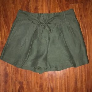 Green belted Ann Taylor Shorts
